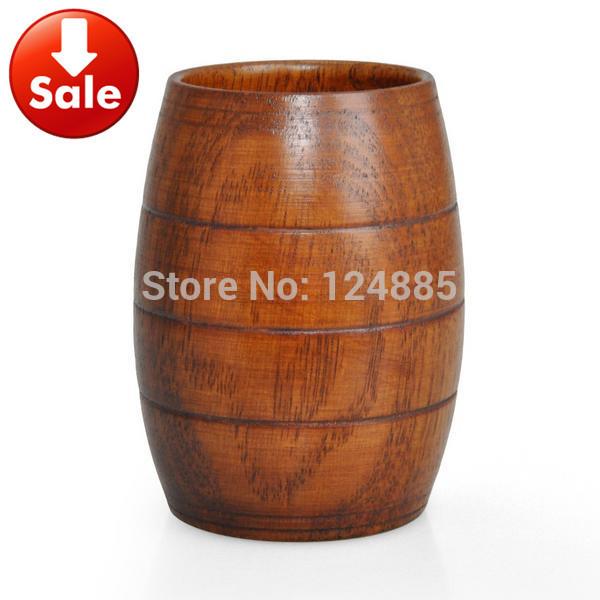 3PCS Lot Beer cup Novelty beer mug Eco friendly Wooden Tableware Luxury beer Bucket Cups 51743