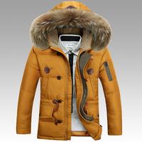 B 2014 New Men'S Winter Down Jacket Fashion Brand Battlefield Long Section Nagymaros Collar Down Jacket Coat Thick Warm 90% P76