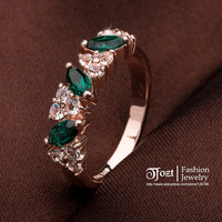 TFOZT ! B Crystal Ring 18K Rose Gold Plated Made with Genuine Austrian Crystals For Women Wholesale BSJZ 50025