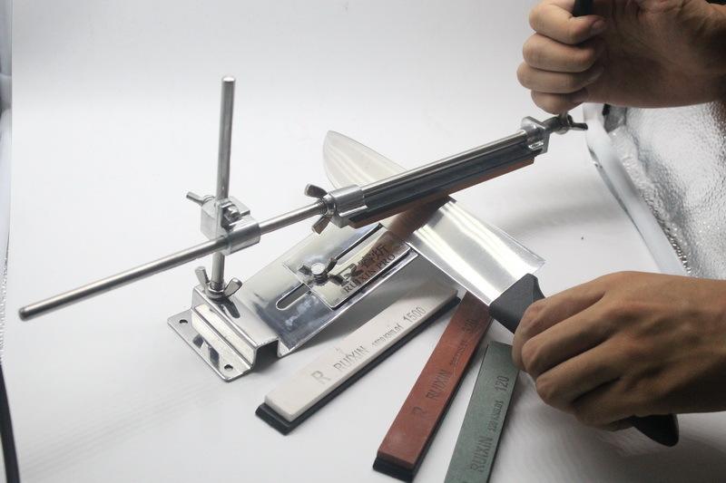 New update iron steel knife sharpener Professional Kitchen Knife Sharpener Sharpening Fix Fixed Angle with stones(China (Mainland))