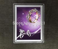Rectangle led panel light 15w rectangle,Mirror box magic led light acrylic stand a4 brand showcase