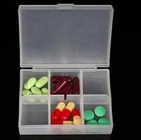 5 pcs  Pill Case Medicine Weekly Storage Pill 6 Day Tablet Sorage Box Container Case Organizer Health Care  Pill Organizer