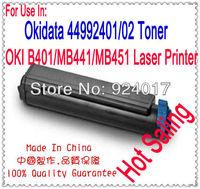 For Oki 44992402  44992401 Refill Toner,Toner Cartridge For Okidata B401 B401D B401DN MB441 MB451 MB451W Printer,For Oki 401 451