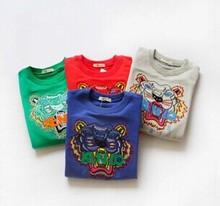 2014 hot salling steller fleece tiger head Hoodies Sweatshirts for boys and girls free shipping(China (Mainland))