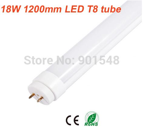 Free ship 25pcs/lot high bright 4ft led tube T8 1200mm tube light 18W 2835MD LED tube milk cover 110V 220V(China (Mainland))