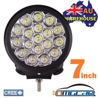 OMGCAR 1PCS 7INCH 90W LED CREE DRIVING WORK LIGHTS SPOT BEAM OFFROAD UTE REPLACE HID