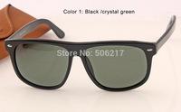 top selling in case men fashion brand name rectangle Sunglasses women designer sun glasses 4147 601 black glasses original 60mm