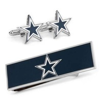 NFL Football Dallas Cowboys Cufflinks and Money Clip Gift Set Free Shipping