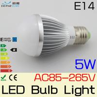 10PCS/LOT 5W E14 SMD5730 LED Globe Bulbs lamp light 110V/220V ,globo de luz  levou lampada de led para casa ,Free shipping