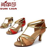 New Style Free Shipping Gorgeous Women's Ladies Latin Tango Ballroom Salsa Heeled Dance Shoes WZSP809 7cm Heel High