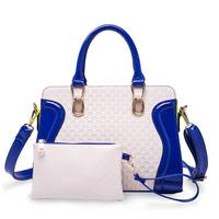2014 women's fashion handbags embossing  High quality hit color women bag totes  Ms. Messenger Bag Shoulder Bag Gift zero purses