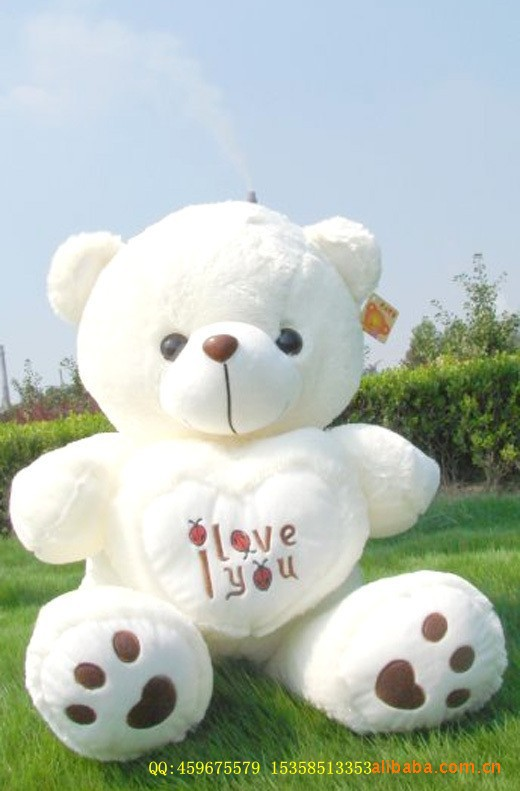 50cm 2 colors big teddy bear plush toy stuffed toys baby toy birthday gifts Christmas gifts free shipping(China (Mainland))