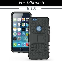 200pcs/lot Free Shipping 2 in 1 TPU+PC Hybrid Combo Spider Hard Case with Stand for iPhone 6
