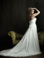Custom Size A-Line wedding dress Sweetheart Sleeveless Chapel Train Floor-Length White Ivory Wedding gown Dress Plus Size