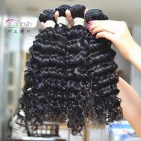 Calansh Hair Products virgin peruvian hair 100g per pc 4 pcs per lot deep wave black color free shipping by UPS, TNT, DHL