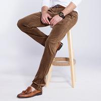 2014 Autumn and winter fashion men corduroy trousers warm outdoor pants men's business