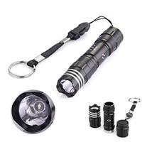 Black Mini White 1 LED Camping Fishing Flashlight Torch Lamp Light keychain