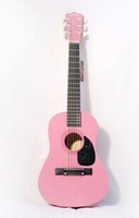 free shipping Factory supply 30 inches children beginners folk guitar/travel guitar pink wholesale