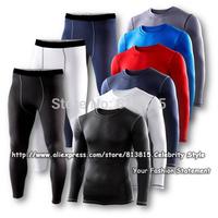SE19 Mens Boys Sport Set Compression Base Layers Armour Top Thermal Skins Shirt Basketball Jersey T-shirt+Tight Pant Leggings