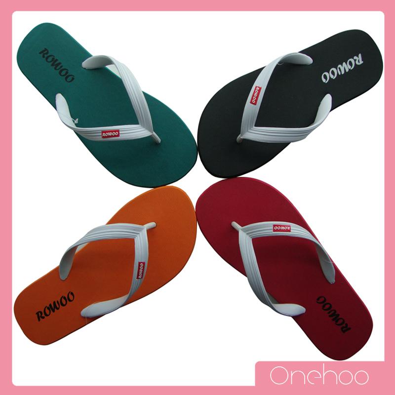 New 2014 Summer Man Flat Sandal Slipper Casual Shoes Flip Flops Brand Beach Slippers For Men Size 40-45