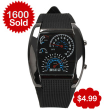 Hot Sale Promotion Fashion Car Meter Dial Sports LED Digital Watches Women Men Watch Free Shipping relogio masculino(China (Mainland))