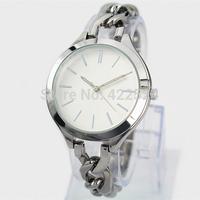 1 piece/lots 2014 New Fashion Style Women Watch Lady Watch With Big Dial Diamond Steel Bracelet Chain Luxury Watch High Quality
