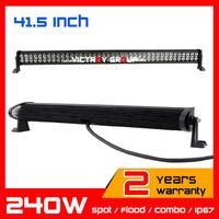 42inch 240w Led Work Light Bar IP67 for 12v 24v Tractor ATV Offroad Fog Light LED Worklight External Light seckill 120w 180w