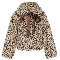 Retail 1PCS Autumn Winter Children Clothing Baby Girls Leopard Print Faux Fur Coat Drop Shipping Wholesale B14 SV006054