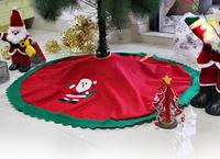Hot Sale 1Pcs New 95cm Red Snowman Tree Skirt Christmas Tree Skirt Christmas Tree Decoration Christmas supplies ic871343