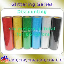"20""x6yards Iron On Glitter Heat Transfer Vinyl Printing(China (Mainland))"