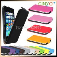 "for iPhone 6 Flip case, Size 100% fit, leather flip case for iphone 6 4.7"", 200pcs/lot 50pcs per color 14 colors Free shipping"