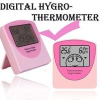 Cute Cartoon Baby Digital LCD Indoor Desk Humidity Temperature Thermometer Hygrometer Meter