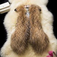 Women Faux Fur Vest Winter Long Vest Sleeveless Luxury Fur Coat Free Shipping Slim Fur Vest M,L,XL,XXL
