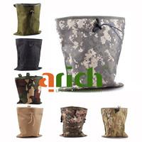 Military Molle Belt Tactical Magazine Dump Drop Utility Pouch Bag W/ Mesh-Large