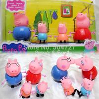 2014 brand pepa pig family peppa pig toys baby toys kids pepa george pig toys free shipping SX-PP014