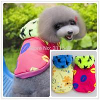 10pieces/Lot  Dog Winter Star Coat Pet Warm Nylon Hoodies Fashion Doggie Jacket PC14043