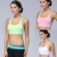 Free shipping,2014 New Arrival Women Sexy Stretch Yoga Athletic Sports Bras Crop Bra Tops Padded wholesales Sport Vest