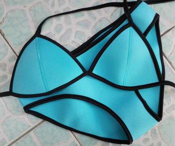 2014 совершенное качество неопрена бикини Triangl купальник бикини неопрена купальный костюм купальники женщины бикини комплект 6 цвета XS-L
