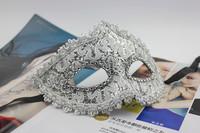 5pcs/Lot Cardin Leather  Plastic Mask Halloween Props Masquerade Party KTV Masks Costume Play Performance Bar Eye Mask