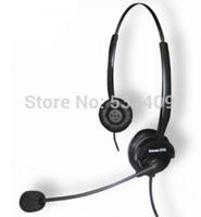 Aiteou A100D RJ9 crystal double ear dual connecting headset. foam ear pad.telephone,call center headset,earphone,headphone