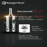 Original KangerTech Aerotank Turbo Atomizer Dual Coil 6ml Capacity 1pc Kanger Aerotank Turbo extra 5pcs coils for free