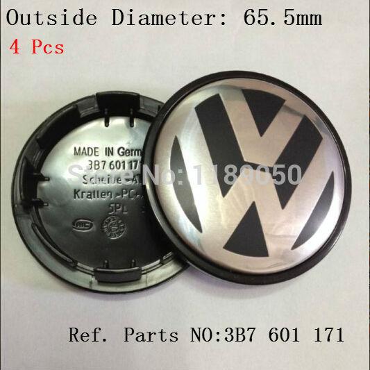 New Free shipping 4pcs 65mm VW wheel center hub cap cover sets Volkswagen LOGO EOS Golf Jetta Mk5 Passat B6 VW 3B7 601 171(China (Mainland))