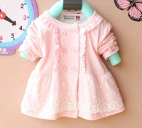 2014 new Fashion knit Baby Dress girls' dresses Kids Autumn Winter Clothes Long Sleeve lacer lacing Kids Autumn Winter Clothes