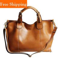 100% Cowhide Designer Bag High Quality Elegant Women'S Real Cow Leather Handbags Hot Vintage Celebrity Tote Famous Shoulder Bag