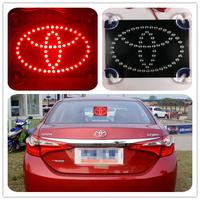 2014 Hot high quality Car styling The Third brake light Car LOGO LED light effectively prevent rear-end parking Light For TOYOTA