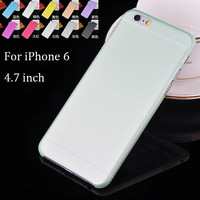 0.3mm Super Ultra Thin Slim Frosted Matte Transparent Soft PP Cover Case Shell Skin for iPhone 6 Plus 4.7 5.5 inch 50pcs/lot