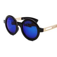 Colorful retro round sunglasses Unisex