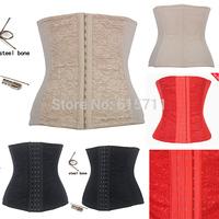 2014 Women Underbust Corset Cupless Bustiers Sexy Lingerie Waist Training  Top Steel Boned Corset Plus size S-4XL