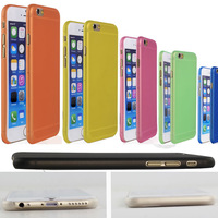 0.3mm Ultra Thin Matte Transparent Clear PP Cover Case for iPhone 6  4.7 inch 20pcs/lot=10pcs Case+10pcs Screen Protector