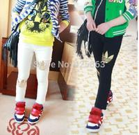 2014 Spring Autumn Winter New Fashion Children's 2-9 Year Pant Kids Girls Trousers Print Legging pencil pants
